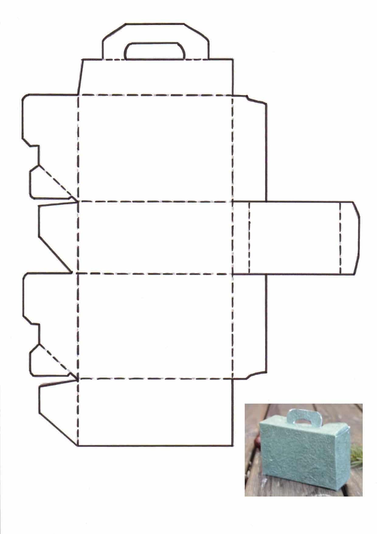 Pinkes Osterkorbchen Schachtel Vorlage Ausdrucken 3
