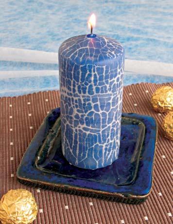 Krakelierte Kerze