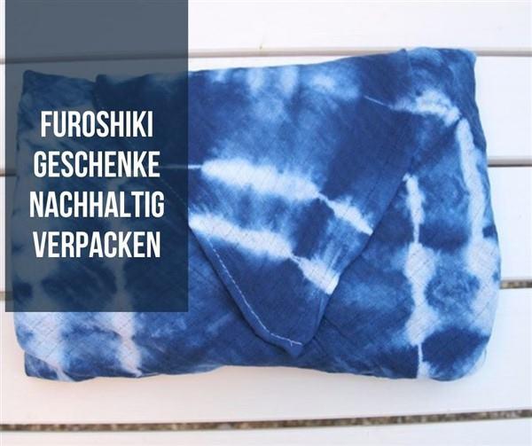 Furoshiki - Geschenkverpackung aus Mullwindel