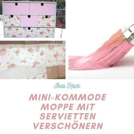 IKEA Hack Moppe Kiste verschönern mit Serviettentechnik