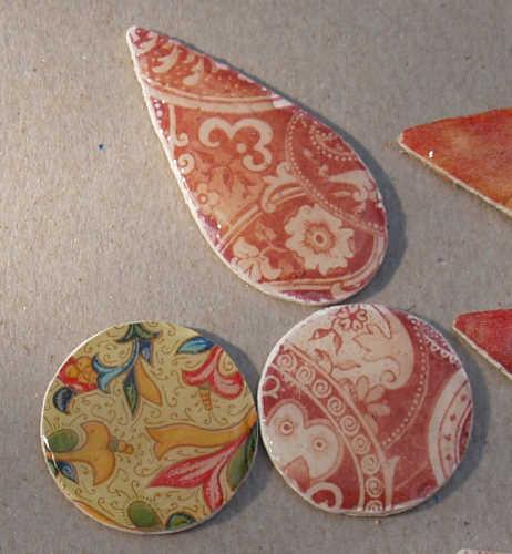 Schmuckteile aus Holzplättchen - Teil I