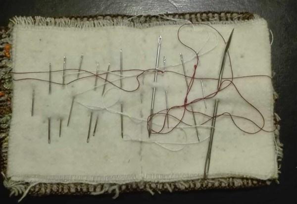 Nadelbuch aus den 60er Jahren von innen