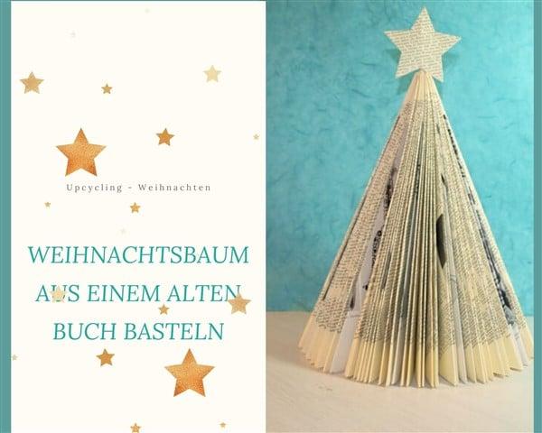 Weihnachtsbaum aus einem alten Buch basteln