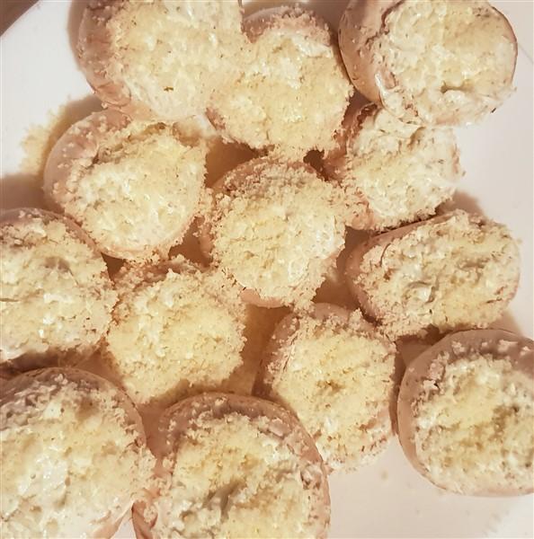 vegetraische Grillrezepte gefüllte Champignons