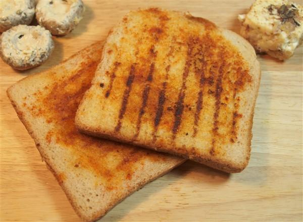 vegetraische Grillrezepte Toast mit Gewürzmischung Drei