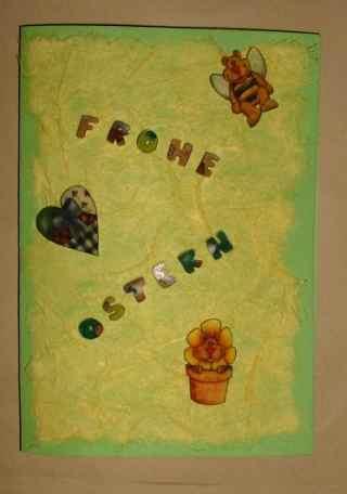 Bienenbärenkarte -Frohe Ostern-
