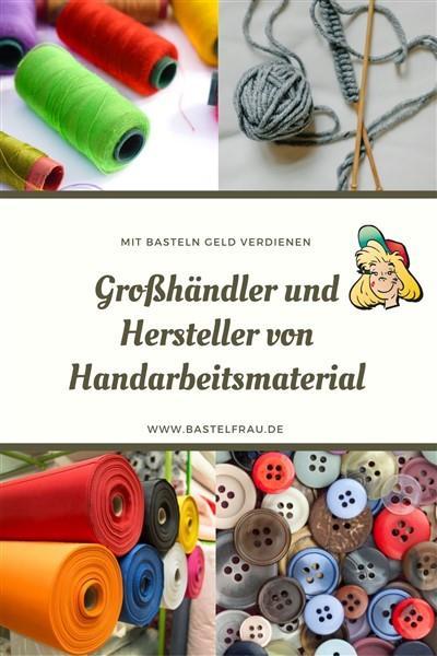 Herstellerliste Handarbeitsmaterial