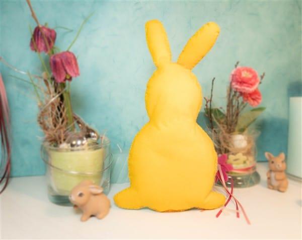 Ostergeschenk für Kinder - Filzhasen Stofftier selber nähen