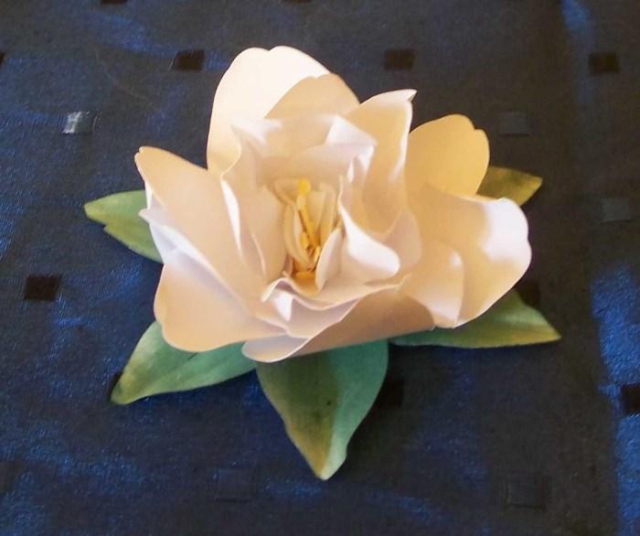 Gardenie aus Papier