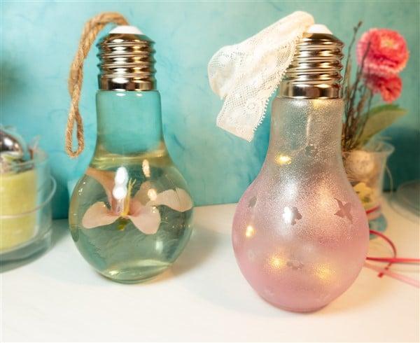 DIY Wohndeko mit Glühbirnen