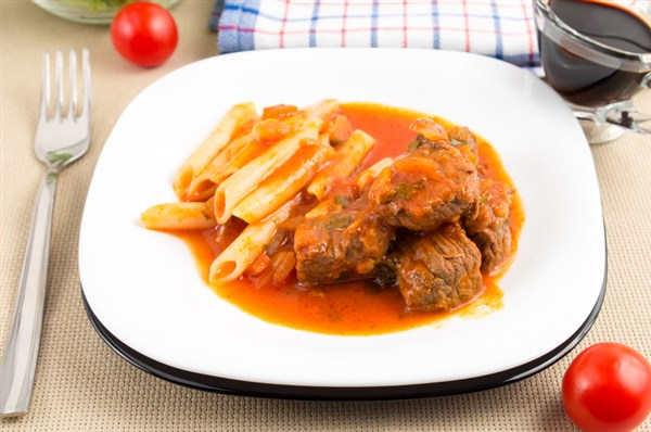 Gulasch oder Pfefferfleisch aus der Kochkiste oder dem Crockpot