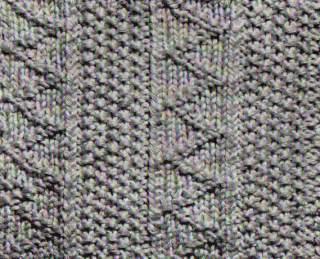 Strumpfmuster - bestehend aus zwei verschiedenen Mustern