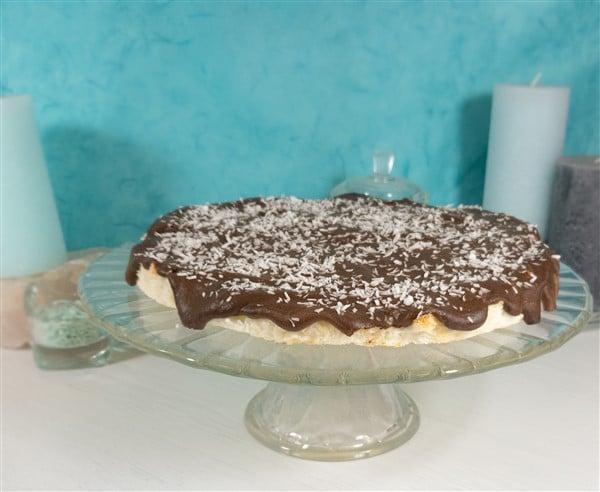 Kokostorte mit Schokoladencreme - Low Carb