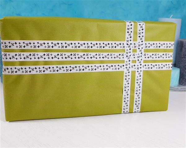 Geschenkverpackung mit Washitape