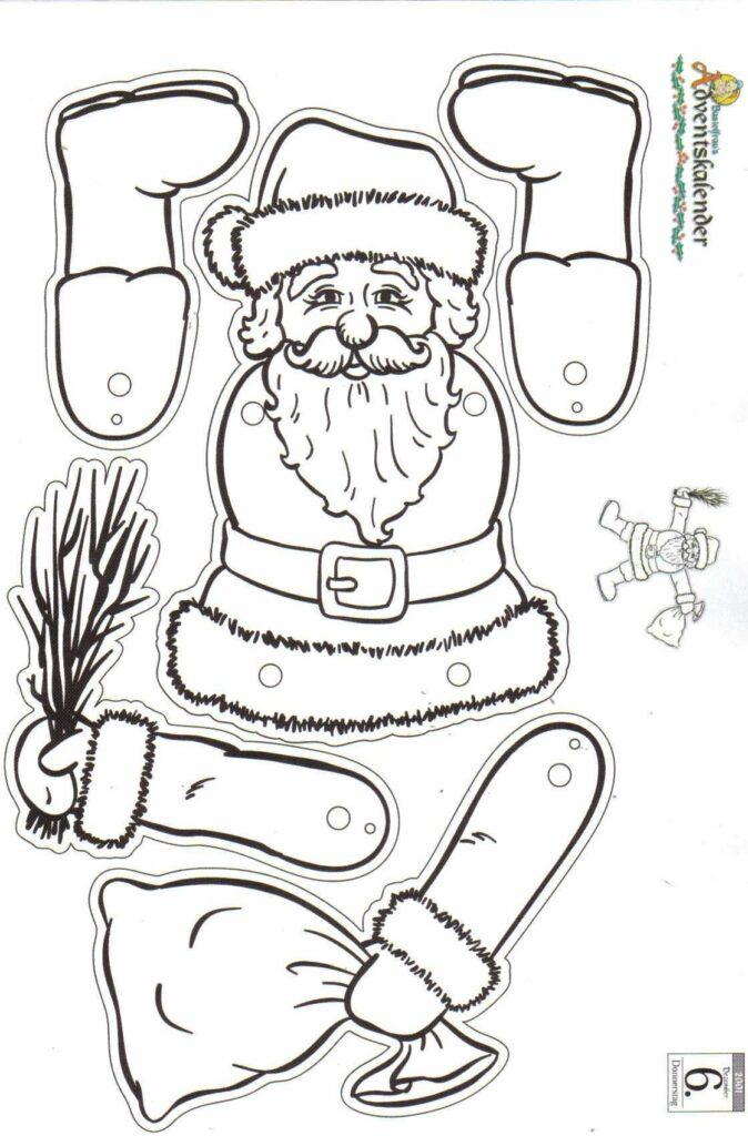 Bastelvorlage Weihnachtsmann