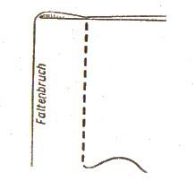 Einengen von Stoffweiten durch Falten