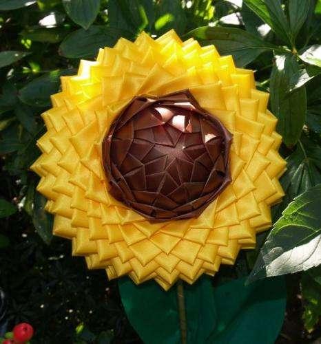 Sonnenblume in Artischockentechnik