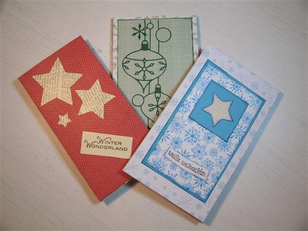 Weihnachtliche Hexentaschen oder Zauberkarten