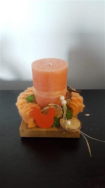 DIY Frühlingshafter Kerzenständer in Apricot