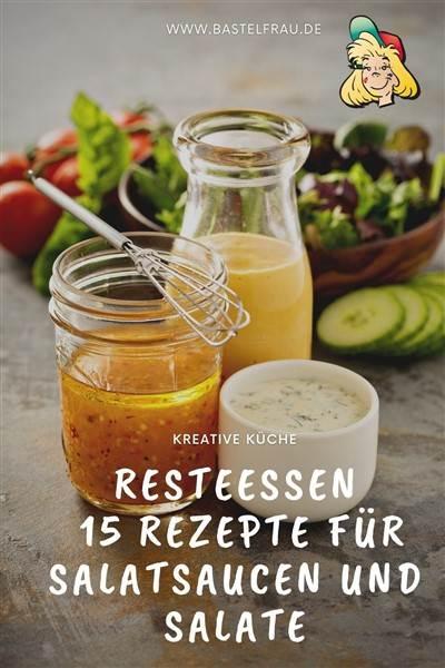 Rezepte für Salatsaucen und Salat