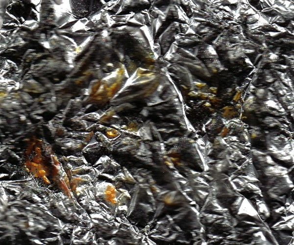 Hintergrundpapier aus Alufolie