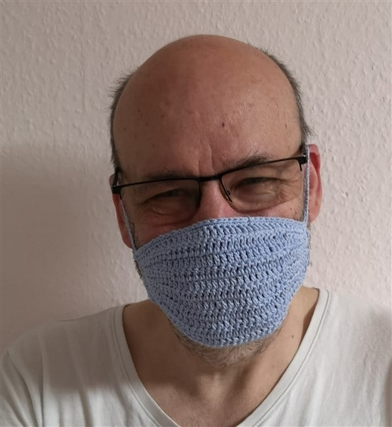 Halter für Mundschutz - gehäkelt