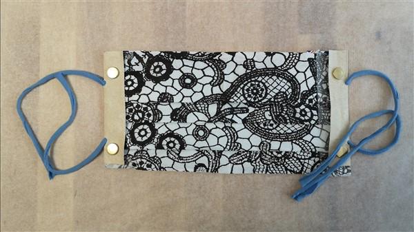 Mundschutz mit selbstgemachtem Jerseyband