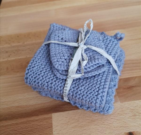 Waschlappen und Abschminkpads aus Milchgarn stricken und häkeln