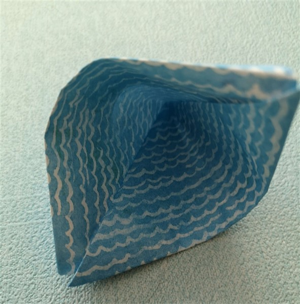 Origami Segelboot falten