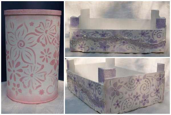 Upcycling Pappdose und Mandarinenkiste