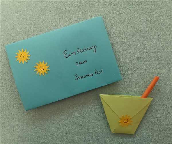 Origami - Einladungskarte mit Umschlag falten