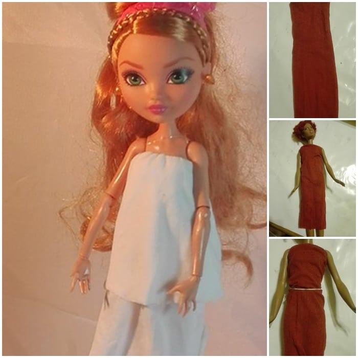 Barbiekleider aus Strümpfen