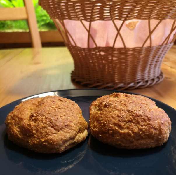 Rezept für Slow Carb Toastbrötchen mit Haferkleie und Teffmehl