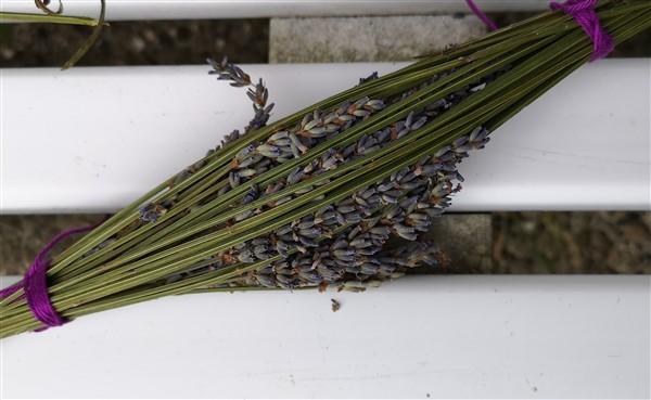 Bastelidee mit Lavendel: Lavendelflasche