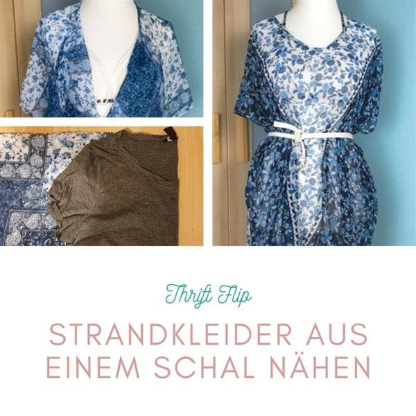 Thrift Flip: Strandkleider nähen aus einem Schal