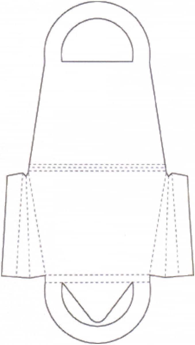 Bastelvorlage Handtasche