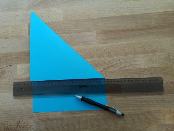 Quadratisches Blatt herstellen