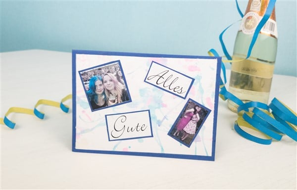 Persönliche Glückwünsche: Fotokarten zum Geburtstag selber machen