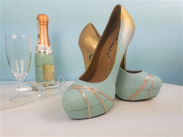 Schuhe mit Farbverlauf selber machen