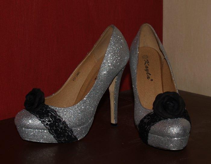 Schuhe mit Glitzer selber machen