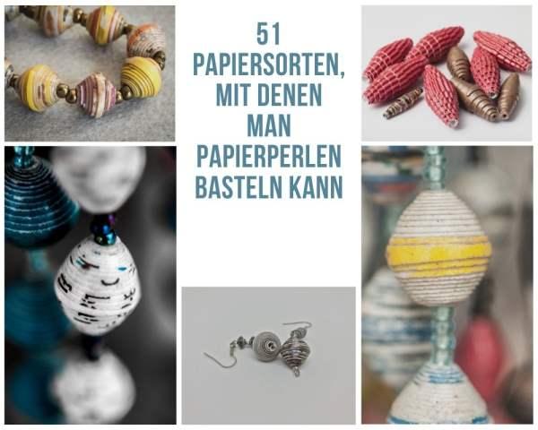 51 Papiersorten für das Basteln von Papierperlen