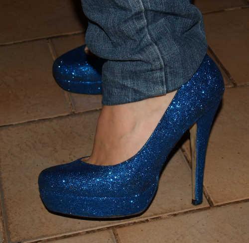 Schuhe beglitzern