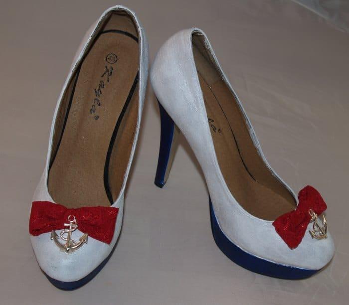 maritime Schuhe selber machen