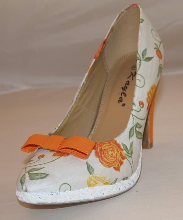 Schuhe selber machen mit Servietten