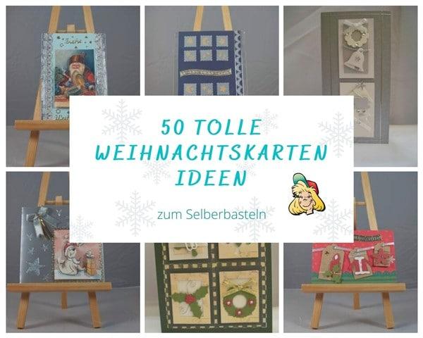 50 Ideen Weihnachtskarten selber basteln