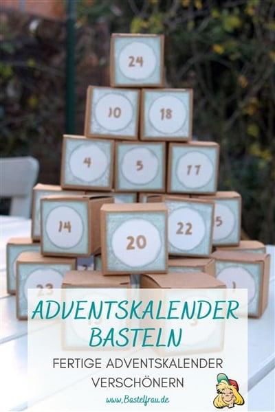 Einfache Adventskalender basteln: Schneller Last-Minute Adventskalender mit Verlosung