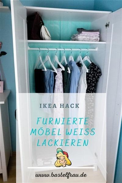 IKEA HACK: Furnierte Ikea-Möbel weiß lackieren ohne vorheriges Schleifen