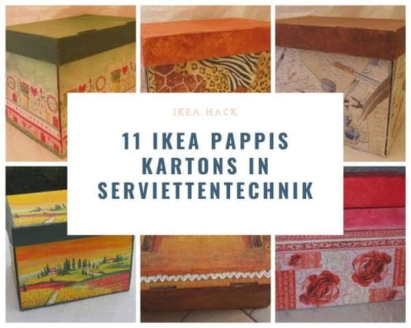 Ikea Hack: Aufbewahrungskartons Pappis verschönern