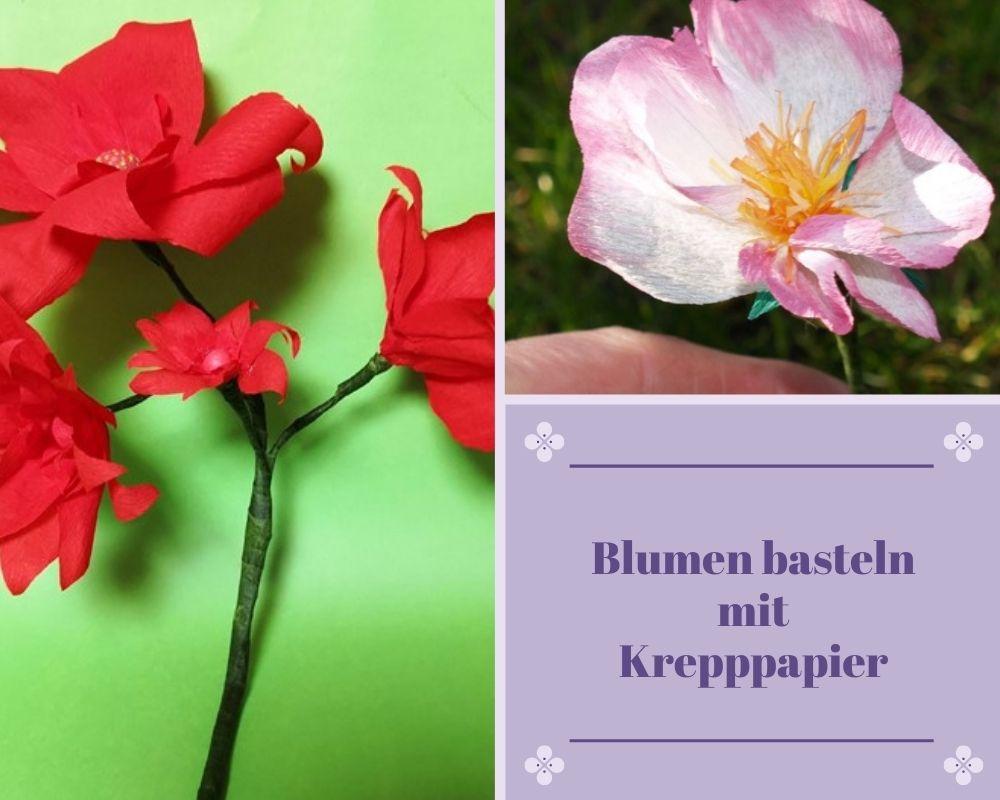 Blumen aus Krepppapier basteln
