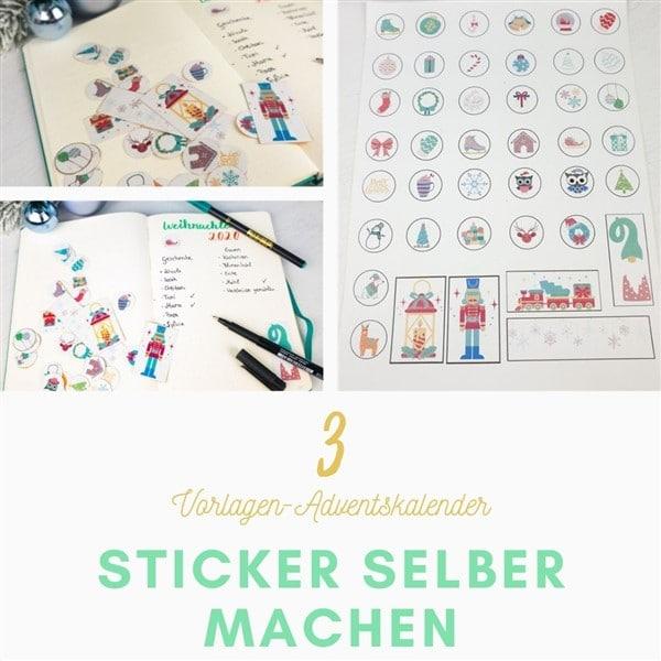 Bastelvorlagen-Adventskalender Türchen 3: Sticker selber machen